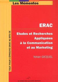 ERAC : études et recherches appliquées à la communication et au marketing : BTS Communication des entreprises