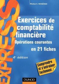 Exercices de comptabilité financière : opérations courantes en 21 fiches