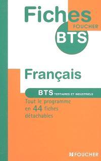 Français : BTS tertiaires et industriels