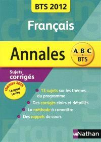 Français BTS : annales 2012