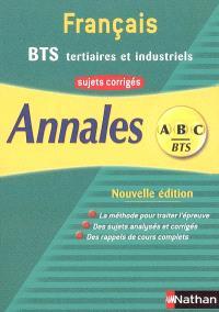 Français BTS tertiaires et industriels