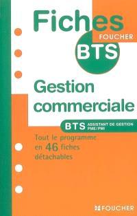 Gestion commerciale, BTS assistant de gestion de PME-PMI