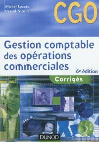 Gestion comptable des opérations commerciales : CGO processus 1 : corrigés