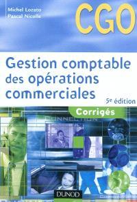 Gestion comptable des opérations commerciales : corrigés : processus 1