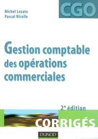Gestion comptable des opérations commerciales, processus 1 : corrigés