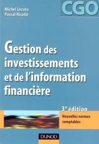 Gestion des investissements et de l'information financière : nouvelles normes comptables