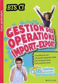 Gestion des opérations import-export, BTS CI
