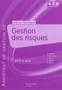 Gestion des risques, BTS assitant de gestion de PME-PMI, A7.2 à A7.5 : livre du professeur