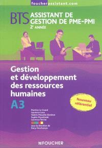 Gestion et développement des ressources humaines A3, BTS assistant de gestion de PME-PMI, 2e année