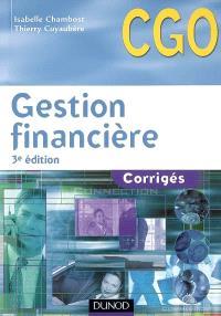 Gestion financière : corrigés