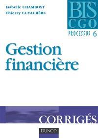 Gestion financière, processus 6 : corrigés