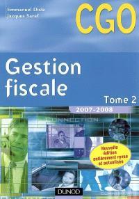 Gestion fiscale. Volume 2, Processus 3 : gestion fiscale et relations avec l'administration des impôts