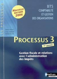 Gestion fiscale et relations avec l'administration des impôts : processus 3 BTS CGO 1re année