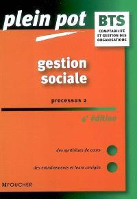 Gestion sociale, processus 2, BTS comptabilité et gestion des organisations