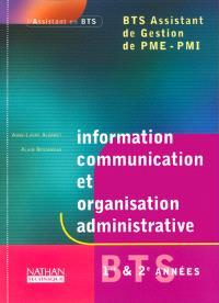 Information, communication, organisation administrative, BTS assistant de gestion PME-PMI