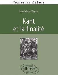 Kant et la finalité