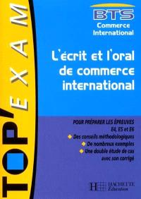 L'écrit et l'oral de commerce international : BTS commerce international