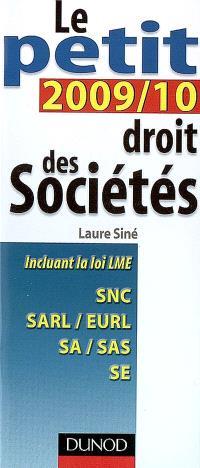Le petit droit des sociétés 2009-2010