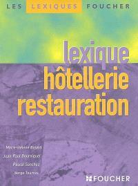Lexique hôtellerie restauration