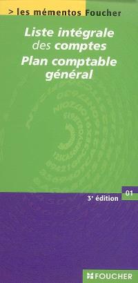 Liste intégrale des comptes : plan comptable général : conforme à l'arrêté du 22.06.99 modifié par l'arrêté du 17.12.00 et au règlement 2002-10 du 10.12.02 du Comité de la réglementation comptable
