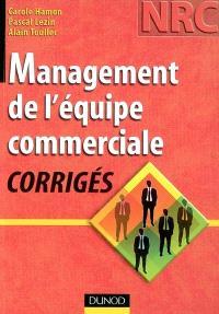Management de l'équipe commerciale : corrigés
