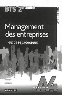 Management des entreprises BTS tertiaires 2e année : guide pédagogique