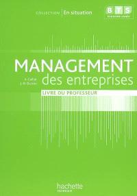 Management des entreprises, BTS première année : livre du professeur