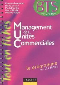 Management des unités commerciales : BTS 1re et 2e années