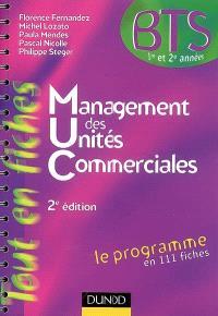 Management des unités commerciales : le programme en 111 fiches
