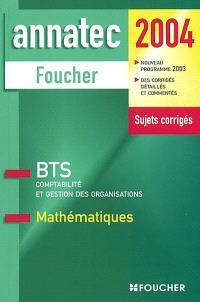 Mathématiques : BTS comptabilité et gestion des organisations