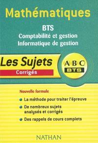 Mathématiques BTS : comptabilité et gestion, informatique de gestion