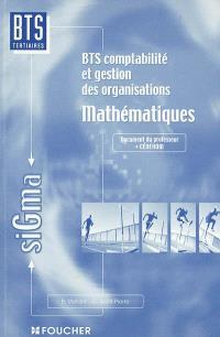 Mathématiques, BTS comptabilité et gestion des organisations : document pour le professeur