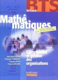 Mathématiques, BTS tertiaire : comptabilité et gestion des organisations : livre de l'élève
