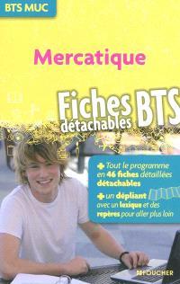 Mercatique, BTS MUC : fiches BTS détachables