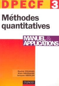Méthodes quantitatives, DPECF 3 : manuel & applications