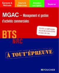 MGAC-management et gestion des activités commerciales : BTS NRC