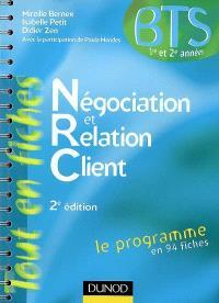 Négociation et relation client : BTS 1re et 2e années, le programme en 94 fiches