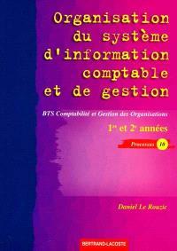 Organisation du système d'information comptable et de gestion Processus 10 : BTS comptabilité et gestion des organisations