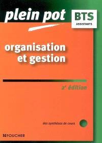 Organisation et gestion : des synthèses de cours : BTS assistants