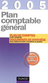 Plan comptable général 2005 : plan de comptes, documents de synthèse : liste intégrale avec liaisons entre comptes et postes