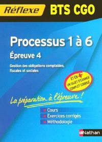 Processus 1 à 6 : BTS CGO : épreuve 4