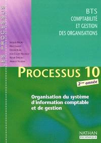 Processus 10 : organisation du système d'information comptable et de gestion, BTS CGO 2ème année