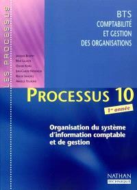 Processus 10 (Organisation du système d'information comptable et de gestion) : BTS CGO 1re année : livre de l'élève