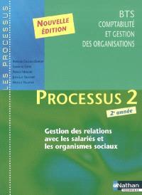 Processus 2 : gestion des relations avec les salariés et les organismes sociaux : BTS CGO 2e année