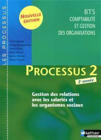 Processus 2 : gestion des relations avec les salariés et les organismes sociaux, BTS CGO 2e année
