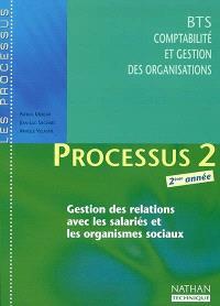 Processus 2 : gestion des relations avec les salariés et les organismes sociaux, BTS CGO 2ème année