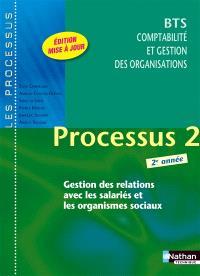Processus 2 gestion des relations avec les salariés et les organismes sociaux : BTS comptabilité et gestion des organisations 2e année