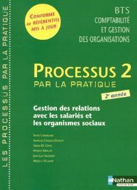 Processus 2 par la pratique, gestion des relations avec les salariés et les organismes sociaux : livre détachable de l'élève