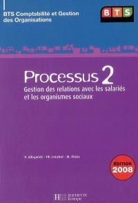 Processus 2, gestion des relations avec les salariés et les organismes sociaux