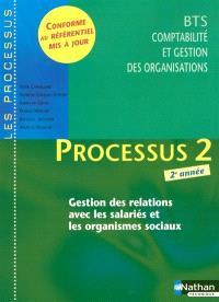 Processus 2, gestion des relations avec les salariés et les organismes sociaux, BTS CGO 2e année